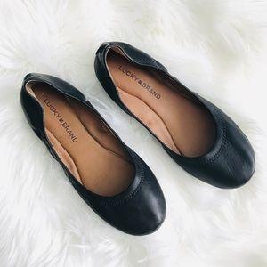 Lucky Brand Emmie Ballet Flats Black Size 7 EUC